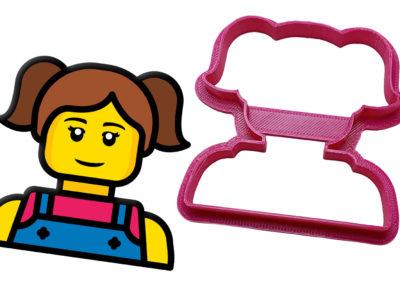 Vykrajovátko Lego hlava holka